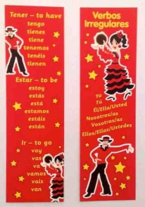 Spanish verbs bookmark